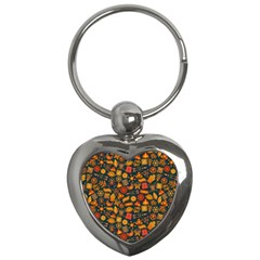 Pattern Background Ethnic Tribal Key Chains (heart)  by Simbadda