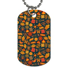 Pattern Background Ethnic Tribal Dog Tag (two Sides) by Simbadda