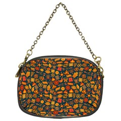 Pattern Background Ethnic Tribal Chain Purses (one Side)  by Simbadda