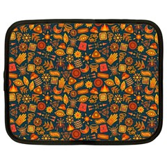 Pattern Background Ethnic Tribal Netbook Case (xxl)  by Simbadda