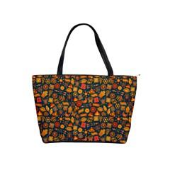 Pattern Background Ethnic Tribal Shoulder Handbags by Simbadda