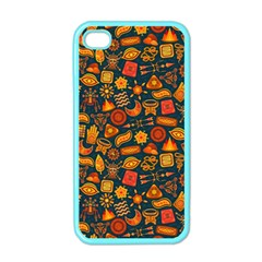 Pattern Background Ethnic Tribal Apple Iphone 4 Case (color) by Simbadda