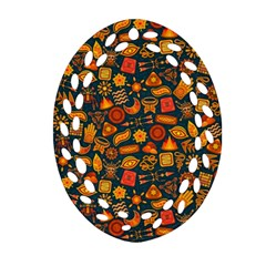 Pattern Background Ethnic Tribal Ornament (oval Filigree) by Simbadda