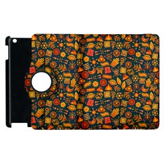 Pattern Background Ethnic Tribal Apple Ipad 3/4 Flip 360 Case by Simbadda
