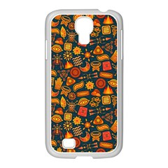 Pattern Background Ethnic Tribal Samsung Galaxy S4 I9500/ I9505 Case (white) by Simbadda