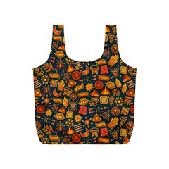 Pattern Background Ethnic Tribal Full Print Recycle Bags (s)  by Simbadda