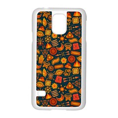 Pattern Background Ethnic Tribal Samsung Galaxy S5 Case (white) by Simbadda