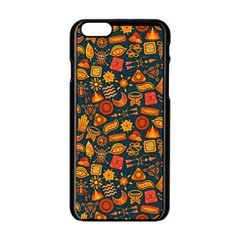 Pattern Background Ethnic Tribal Apple Iphone 6/6s Black Enamel Case by Simbadda