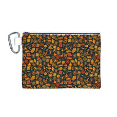 Pattern Background Ethnic Tribal Canvas Cosmetic Bag (m) by Simbadda