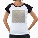 Sand Pattern Wave Texture Women s Cap Sleeve T Front