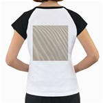Sand Pattern Wave Texture Women s Cap Sleeve T Back
