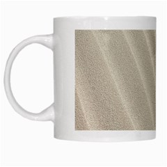 Sand Pattern Wave Texture White Mugs by Simbadda