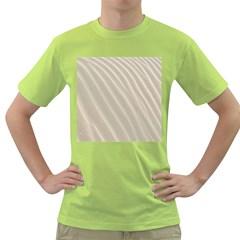 Sand Pattern Wave Texture Green T Shirt by Simbadda