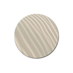 Sand Pattern Wave Texture Magnet 3  (round) by Simbadda