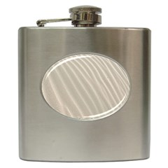 Sand Pattern Wave Texture Hip Flask (6 Oz) by Simbadda