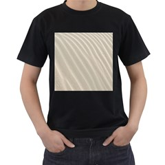 Sand Pattern Wave Texture Men s T Shirt (black) (two Sided) by Simbadda