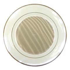 Sand Pattern Wave Texture Porcelain Plates by Simbadda