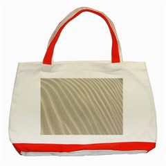 Sand Pattern Wave Texture Classic Tote Bag (red) by Simbadda