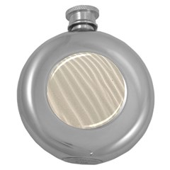 Sand Pattern Wave Texture Round Hip Flask (5 Oz) by Simbadda