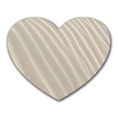 Sand Pattern Wave Texture Heart Mousepads by Simbadda