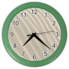 Sand Pattern Wave Texture Color Wall Clocks by Simbadda
