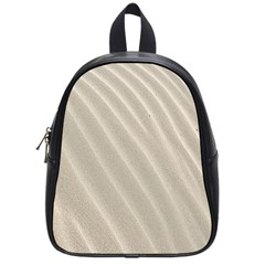 Sand Pattern Wave Texture School Bags (small)  by Simbadda