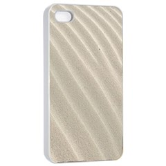 Sand Pattern Wave Texture Apple Iphone 4/4s Seamless Case (white) by Simbadda