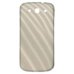 Sand Pattern Wave Texture Samsung Galaxy S3 S Iii Classic Hardshell Back Case by Simbadda
