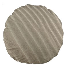 Sand Pattern Wave Texture Large 18  Premium Round Cushions by Simbadda