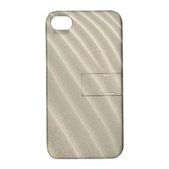 Sand Pattern Wave Texture Apple Iphone 4/4s Hardshell Case With Stand by Simbadda