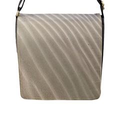 Sand Pattern Wave Texture Flap Messenger Bag (l)  by Simbadda
