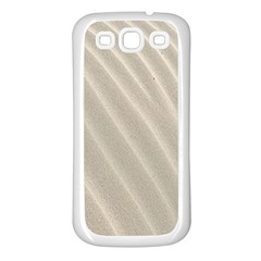 Sand Pattern Wave Texture Samsung Galaxy S3 Back Case (white) by Simbadda