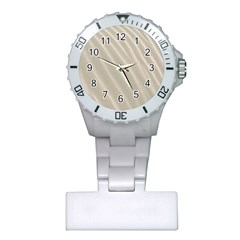 Sand Pattern Wave Texture Plastic Nurses Watch by Simbadda