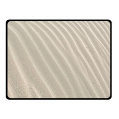Sand Pattern Wave Texture Double Sided Fleece Blanket (small)  by Simbadda