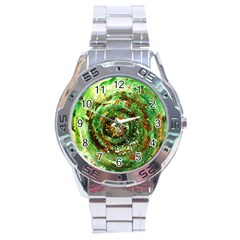 Canvas Acrylic Design Color Stainless Steel Analogue Watch by Simbadda