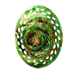 Canvas Acrylic Design Color Ornament (oval Filigree) by Simbadda