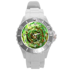 Canvas Acrylic Design Color Round Plastic Sport Watch (l) by Simbadda