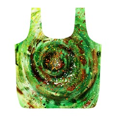 Canvas Acrylic Design Color Full Print Recycle Bags (l)  by Simbadda