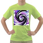 Canvas Acrylic Digital Design Green T-Shirt Front