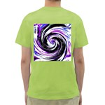 Canvas Acrylic Digital Design Green T-Shirt Back