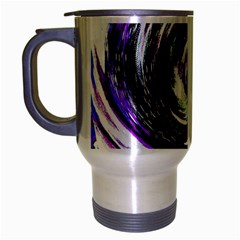 Canvas Acrylic Digital Design Travel Mug (silver Gray) by Simbadda