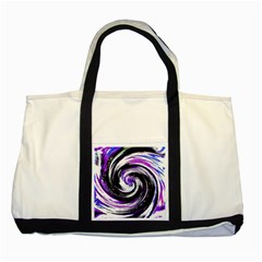 Canvas Acrylic Digital Design Two Tone Tote Bag by Simbadda
