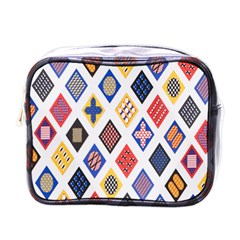 Plaid Triangle Sign Color Rainbow Mini Toiletries Bags by Alisyart