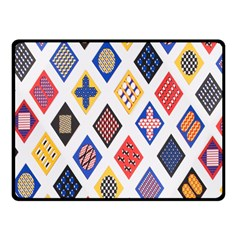 Plaid Triangle Sign Color Rainbow Fleece Blanket (small) by Alisyart