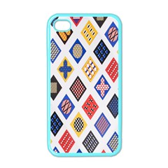 Plaid Triangle Sign Color Rainbow Apple Iphone 4 Case (color) by Alisyart