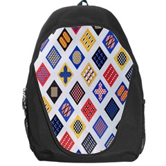 Plaid Triangle Sign Color Rainbow Backpack Bag by Alisyart
