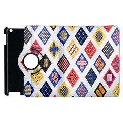 Plaid Triangle Sign Color Rainbow Apple Ipad 3/4 Flip 360 Case by Alisyart