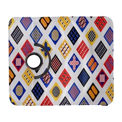 Plaid Triangle Sign Color Rainbow Galaxy S3 (flip/folio) by Alisyart