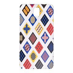 Plaid Triangle Sign Color Rainbow Samsung Galaxy Note 3 N9005 Hardshell Back Case by Alisyart