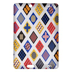 Plaid Triangle Sign Color Rainbow Amazon Kindle Fire Hd (2013) Hardshell Case by Alisyart
